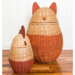 Conjunto de cestos correcuita - Raposa / Galinha