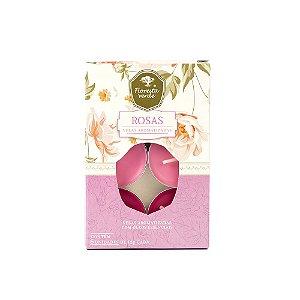 Velas Aromatizadas - Rosas - Caixa com 6