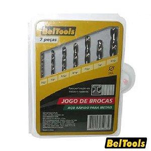 JOGO BROCA 7PCS 2.0 A 8.0 BELTOOLS
