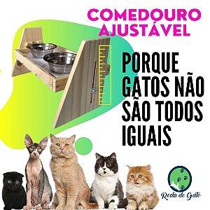 COMEDOURO COM AJUSTE DE ALTURA