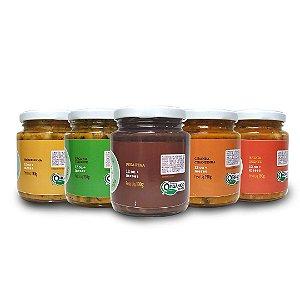 Kit 5 sabores - Linha Comidinha da família (12+)