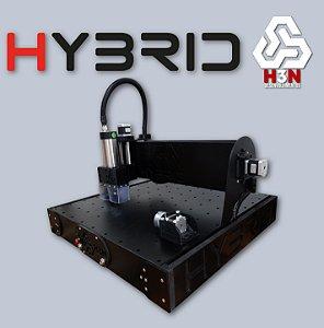 CNC H3N P/ Ourives - 50x50x5 C/ Spindle de 1 Cv (24 Mil RPM) C/ Eixo Rotativo + Gravação Interna Alta Precisão