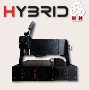 CNC H3N P/ Ourives - 30x30x5 C/ Spindle de 0,85 cv (12 Mil RPM) C/ Eixo Rotativo