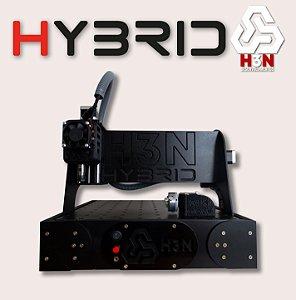 CNC H3N P/ Ourives - 30x30x5 C/ Spindle de 0,85cv (12 Mil RPM) C/ Eixo Rotativo + Gravação interna