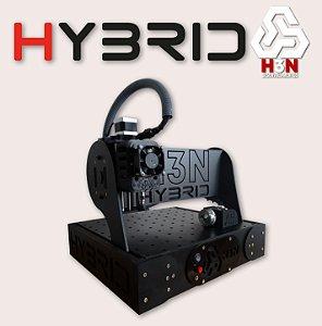CNC H3N P/ Ourives - 50x50x5 C/ Spindle de 0,85cv (12 Mil RPM) C/ Eixo Rotativo + Gravação interna