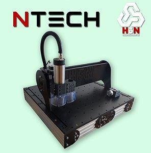 CNC H3N NTECH P/ Ourives - 50x50x5 C/ Spindle de 1 Cv (24 Mil RPM) C/ Eixo Rotativo + Gravação Interna Alta Precisão