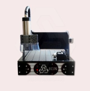 CNC H3N Ntech Ourives Spindle Refrigerado a Água 2cv 30x30x7cm - Com Gravação Interna + Kit Fresas + Computador