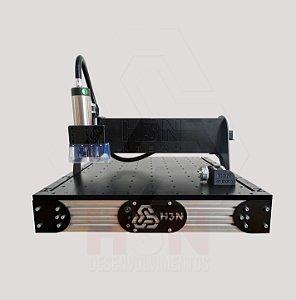 CNC H3N Ntech Ourives Spindle 2cv 50x50x7cm - Com Gravação Interna + Kit Fresas + Computador