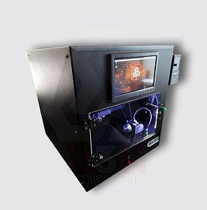 CNC H3N Ntech Pro Ourives Spindle Refrigerado a Água 2cv Cabinado - Com Gravação Interna + Kit Fresas