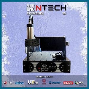 CNC H3N Ntech Ourives Spindle 1cv 30x30x7cm - Com Gravação Interna  Promoção top