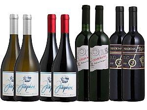 Kit Vinhos Elegantes - 8 garrafas
