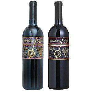Kit com os vinhos da linha Paradigma Rotto