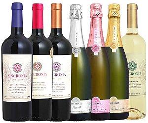 Kit com os vinhos da linha Sincronia - 7 garrafas
