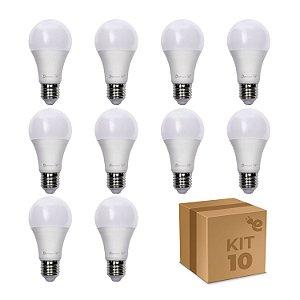 Kit 10 Lâmpadas Led Pro Bolinha Demape 4,8w E27 Branco Frio