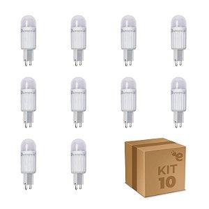 Kit 10 Lâmpadas Led Halopin Demape 3w Branco Quente