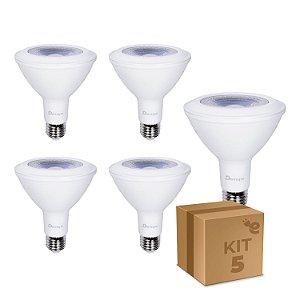 Kit 5 Lâmpada LED PAR30 E27 11W Branco Quente