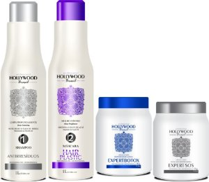 Kit Hair Plastic 1L + Shampoo Antirressíduos + Expert Botox 1Kg + Expert SOS 1Kg