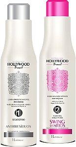 Hollywood Brasil Mascara Selante SWING DOS FIOS 1L + Shampoo Antirresíduos 1l