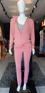 Conjunto Moletinho Rosê Blusa + Calça