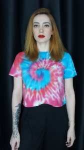 "Cropped Tie Dye ""Not Your Ange'l"