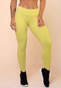 Legging Amarela com Recortes