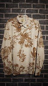 Camisa Floral em Linho