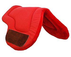Baixeiro Borboleta com Forro de Pelúcia Vermelha