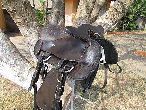 Sela Australiana com cabeça Tradicional Completa  -  Marrom