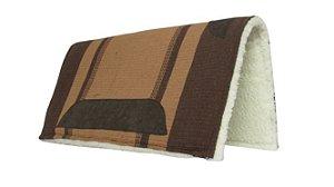 Manta Americana de algodão Tear Manual Top de Linha Marrom 08