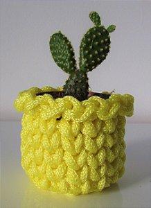 Lembrancinha de crochê amarelo bebê