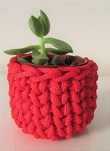 Lembrancinha de crochê vermelho
