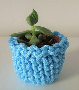 Lembrancinha de crochê azul bebê