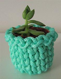 Lembrancinha de crochê azul tiffany