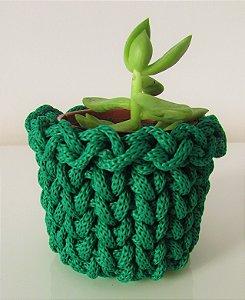 Lembrancinha de crochê verde musgo