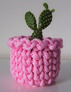 Lembrancinha de crochê rosa bebê