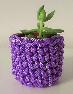 Lembrancinha de crochê violeta lilás