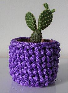 Lembrancinha de crochê violeta