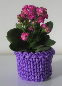 Porta treco de crochê P violeta lilás