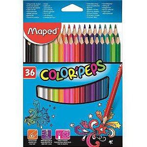Lápis De Cor Color'peps Classic 36 Cores Maped