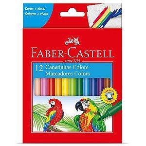 Caneta Hidrográfica 12 Cores, Faber-Castell
