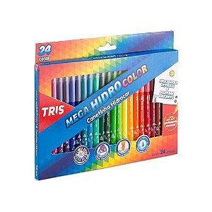 Caneta Hidrocor Mega Hidro Color 24 Cores – Tris
