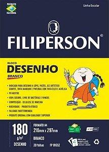 Bloco de desenho a4 180g c.20f br - 01652 - Filiperson