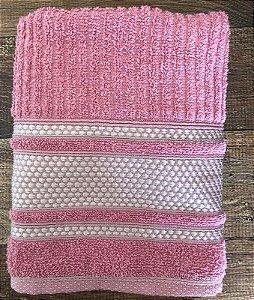 Toalha de Rosto 100% algodão Princess Rosa Crochê