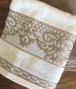 Toalha de Rosto 100% algodão Ohana Branca