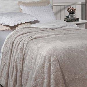Cobertor Soft Flannel Dupla Face Manta Sherpa - Queen - Vermont InterHome - Pérola