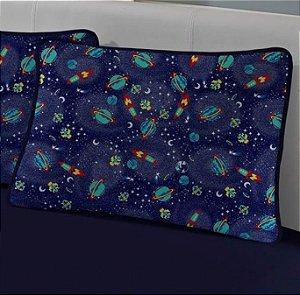 Fronha avulsa 1 peça de malha Edromania Galáxia Espacial