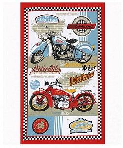 Toalha de Banho Felpudo Estampado Motorbike Dohler
