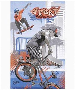 Toalha de Banho Felpudo Estampado Skate e Bike - Jerry Dohler