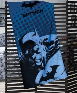 Toalha de Praia Infantil Licenciada Estampada Veludo Batman - Dohler