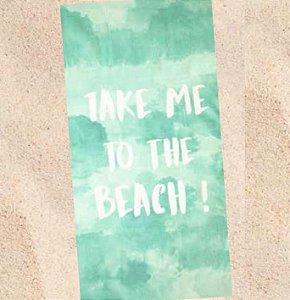 Toalha de Praia Velour Dohler Take me to the Beach Verde